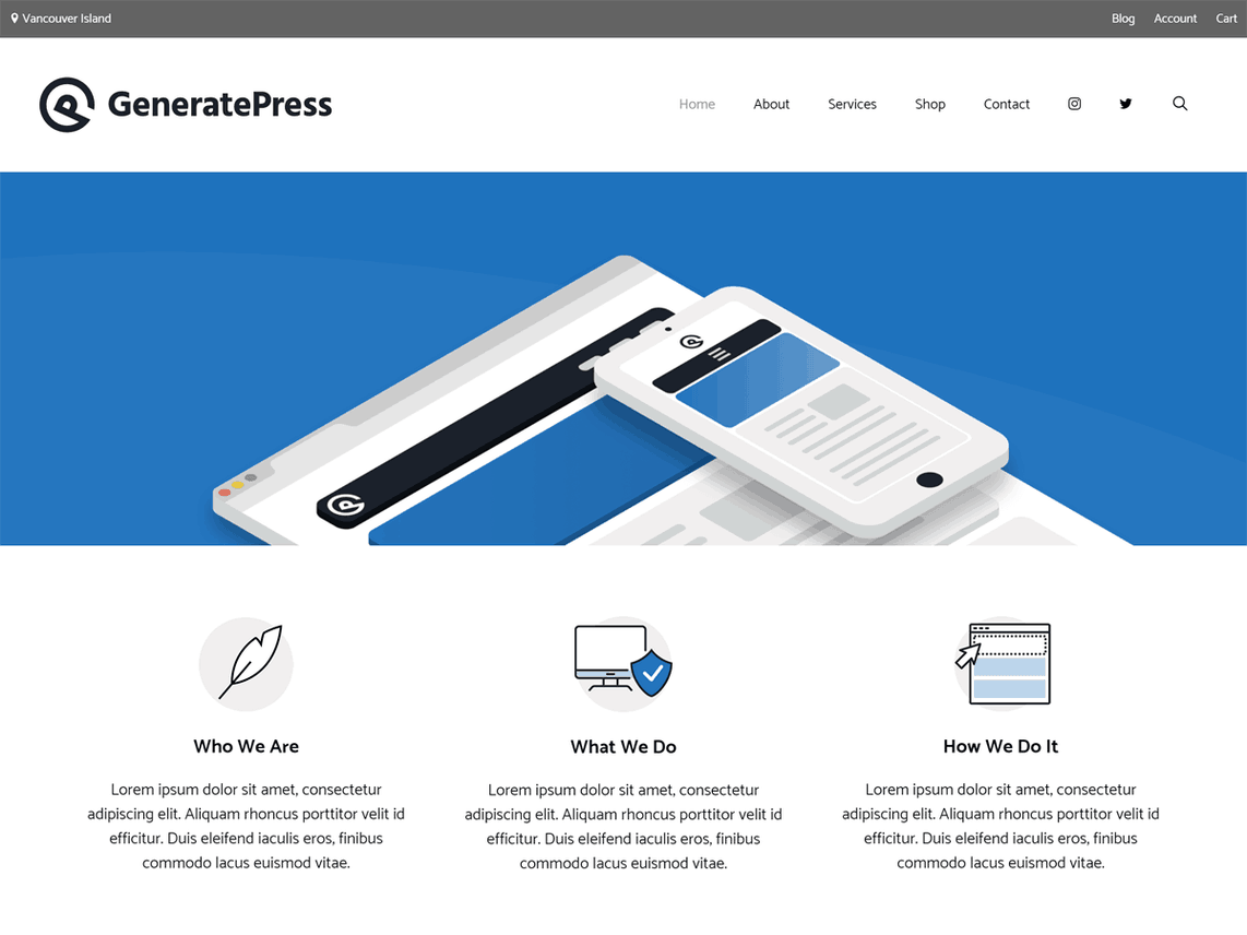 Wordpress Thema GeneratePress https://www.kylianswebdesign.nl/