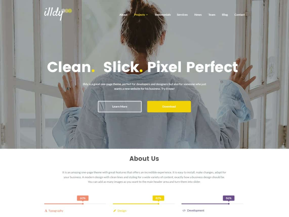 Wordpress Thema Illdy https://www.kylianswebdesign.nl/