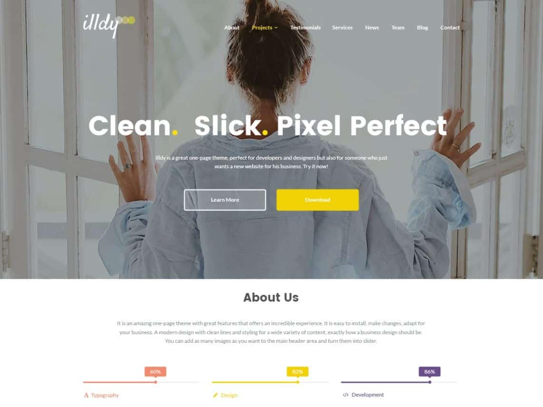 Wordpress Thema Illdy https://www.kylianswebdesign.nl/