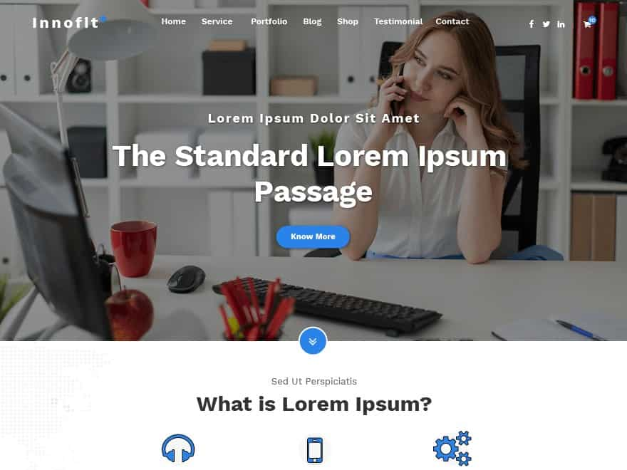 Wordpress Thema Innofit https://www.kylianswebdesign.nl/