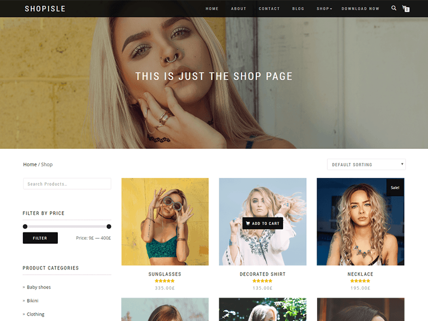 Wordpress Thema ShopIsle https://www.kylianswebdesign.nl/