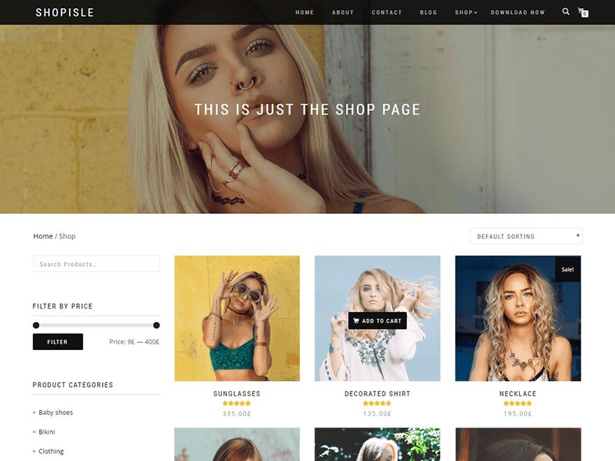 Wordpress Thema ShopIsle https://www.kylianswebdesign.nl/