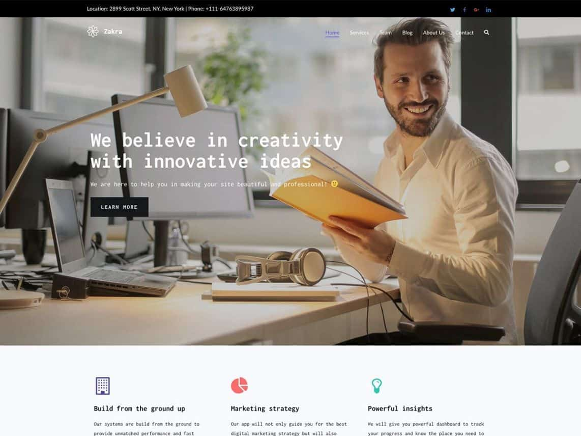 Wordpress Thema Zakra https://www.kylianswebdesign.nl/