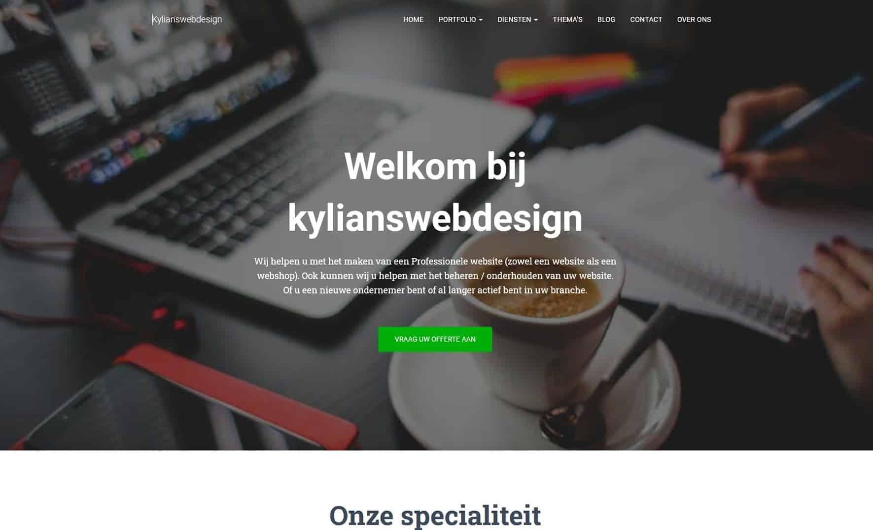 kylianswebdesign is uw designer voor uw website of webshop