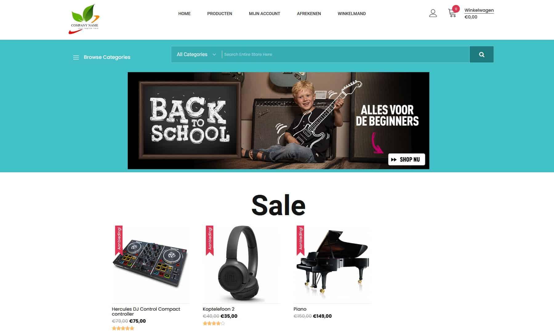 Muziek Webshop Kylianswebdesign