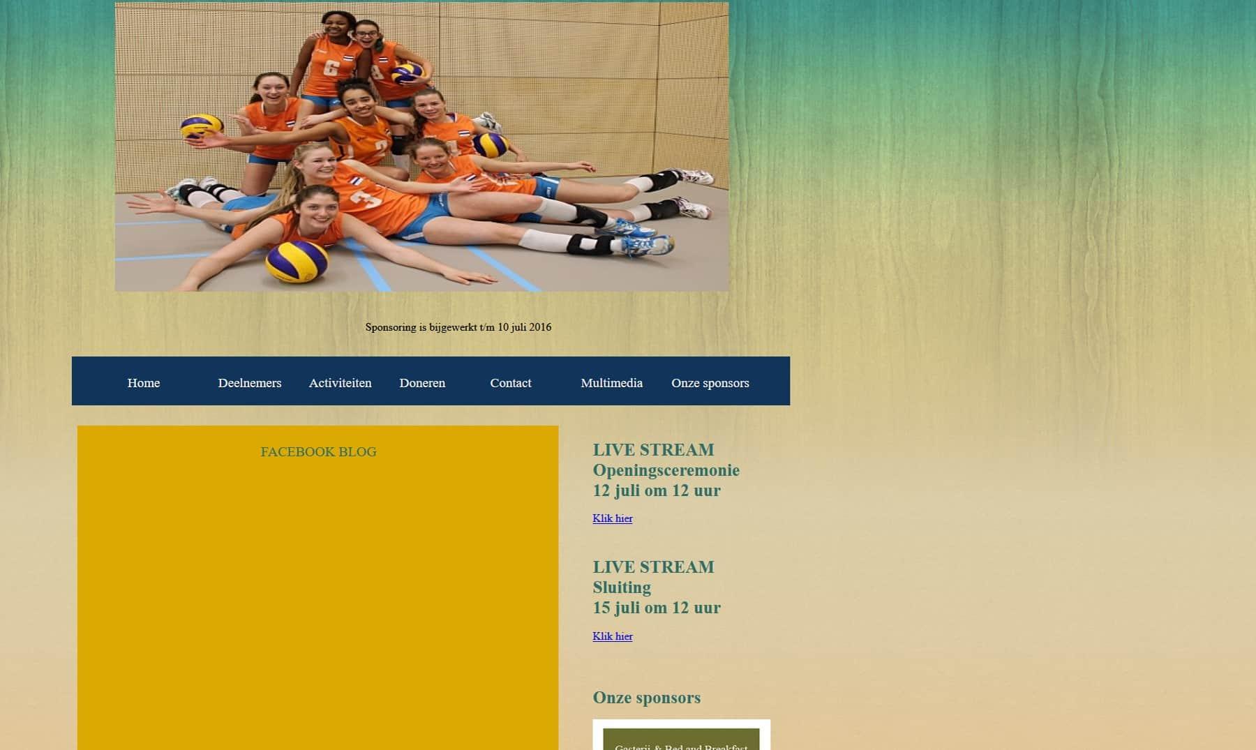 Website ICG (Internation childrens Games) 2017 Volleyball
